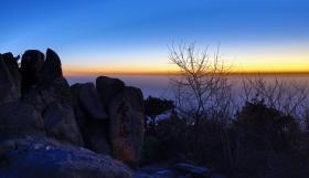 在泰山伴着2014年的第一缕阳光祈盼国泰