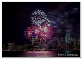 庆祝2014超级杯NY & NJ 施放烟花