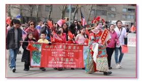 曼哈顿华埠新春游行纪实-步行队伍