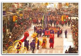 月影 恭喜拜大年--纽约华埠马年新春大游行