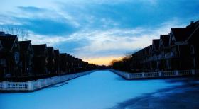 令人痴迷的雪后黄昏