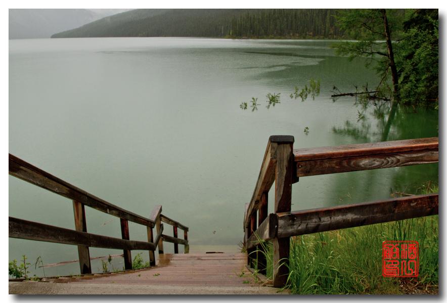 《酒一船》:湖光山色落基行:魔奇湖畔雨纷纷_图1-6
