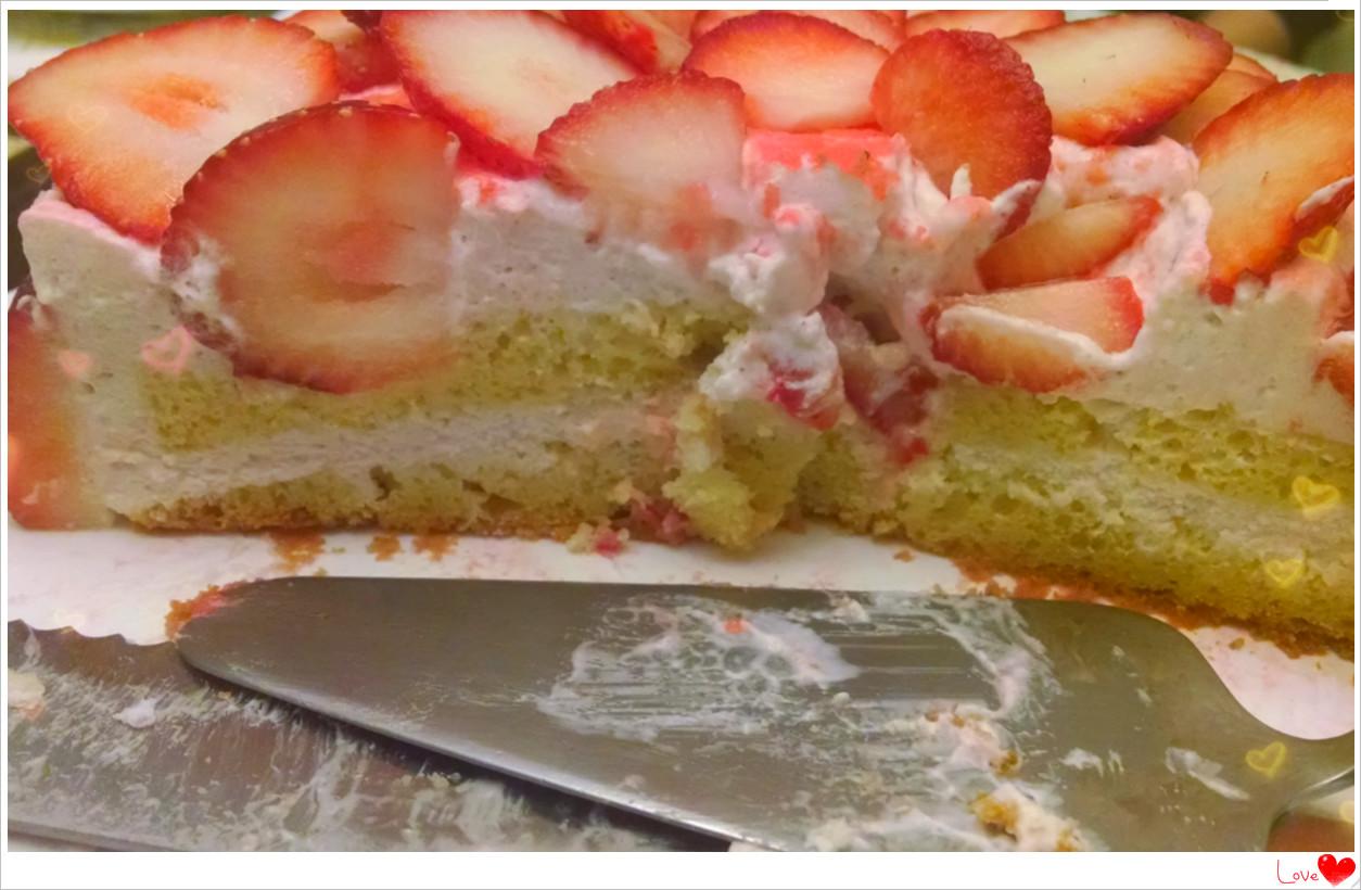 元宵节+情人节快乐! 分享如花般的草莓奶酪慕斯蛋糕_图1-3