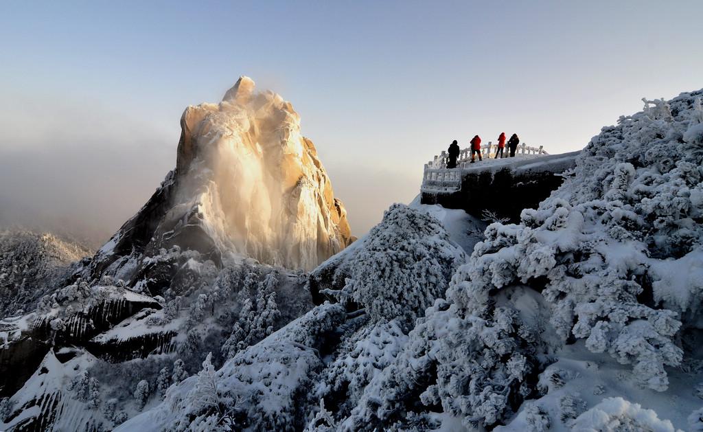 天柱山----雪的风情_图1-16