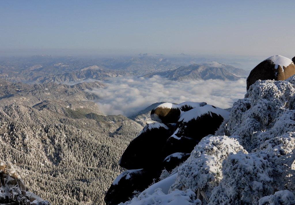 天柱山----雪的风情_图1-11