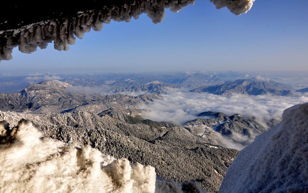 天柱山----雪的风情_图1-7