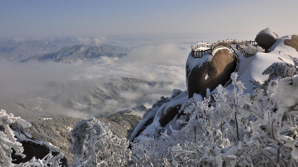 天柱山----雪的风情_图1-5