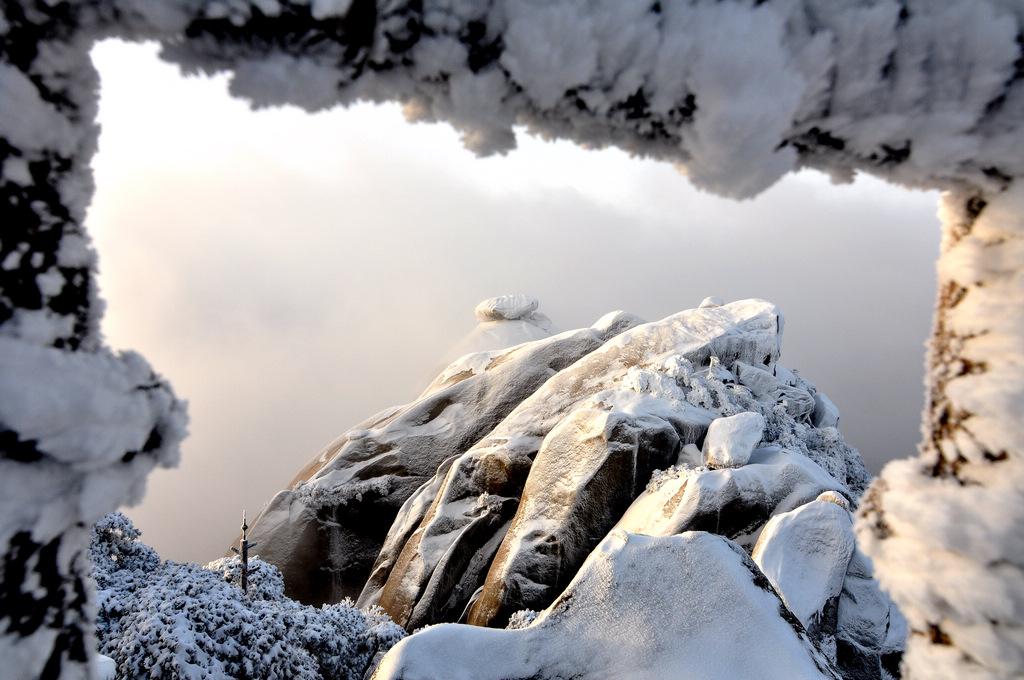 天柱山----雪的风情_图1-17