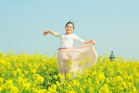 江苏兴化油菜花盛开的季节