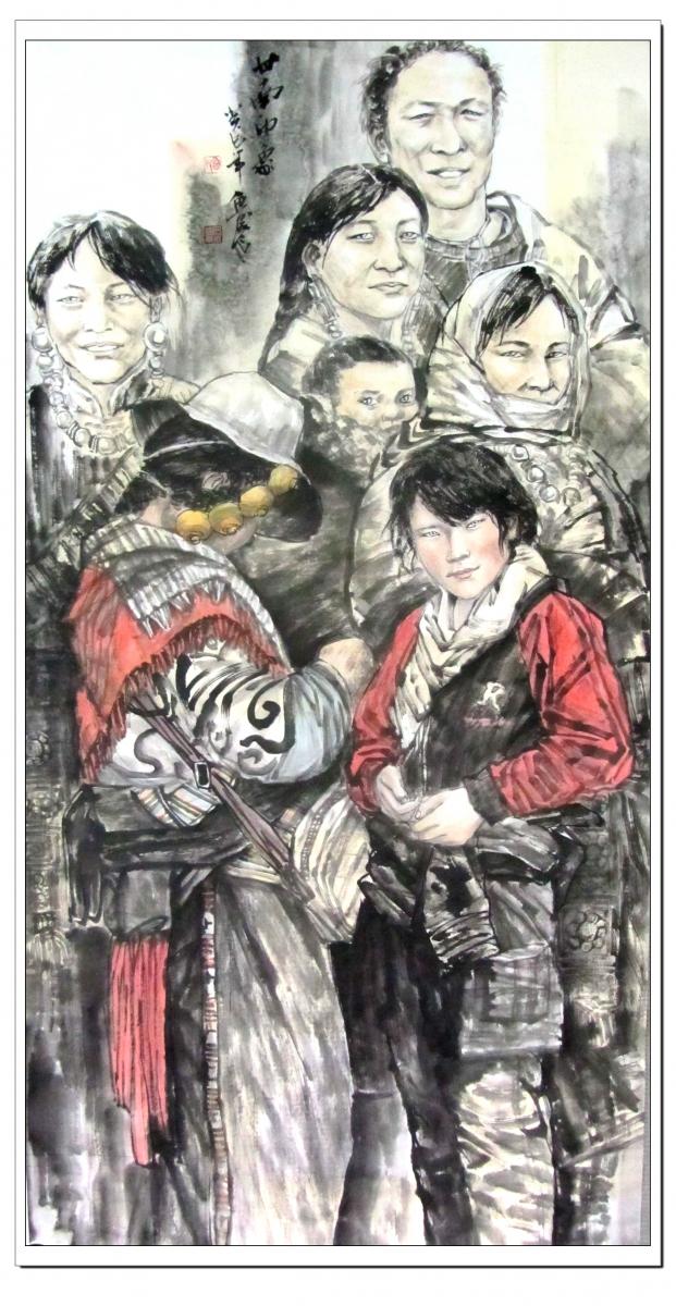 宋鲁民人物画《甘南印象》_图1-1