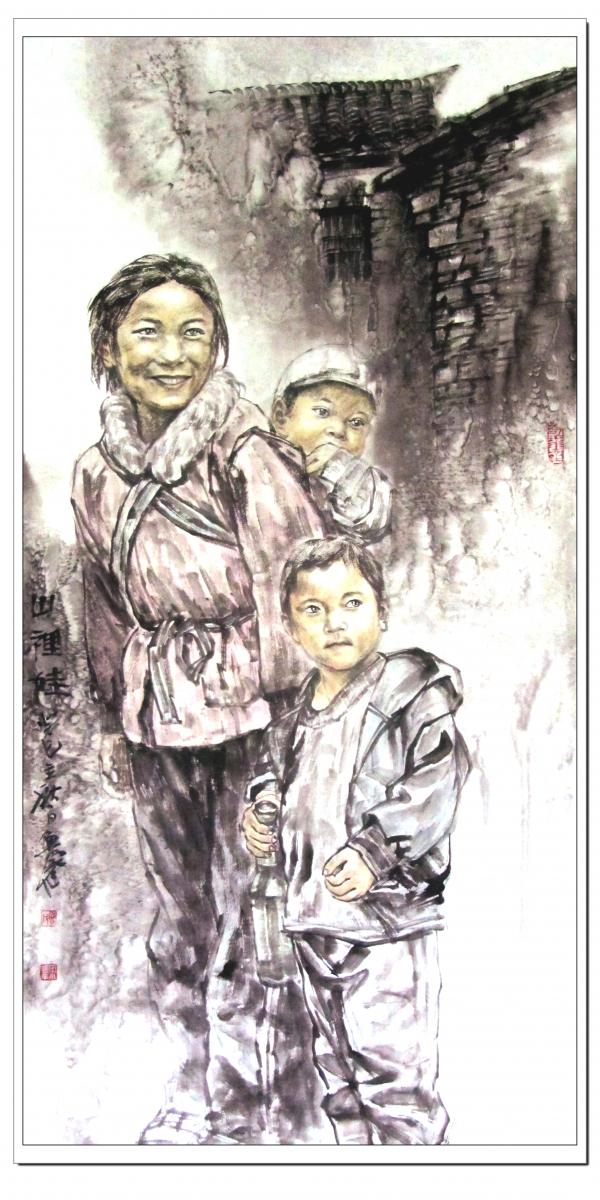 宋鲁民人物画《山里娃》_图1-1
