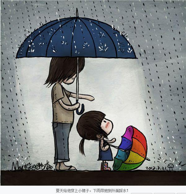 一个父亲画给女儿的画,好感动唷_图1-4