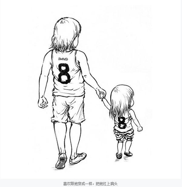 一个父亲画给女儿的画,好感动唷_图1-9