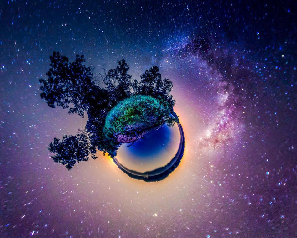 北美星空全景图 - 童话世界的博文 - 美国中文网