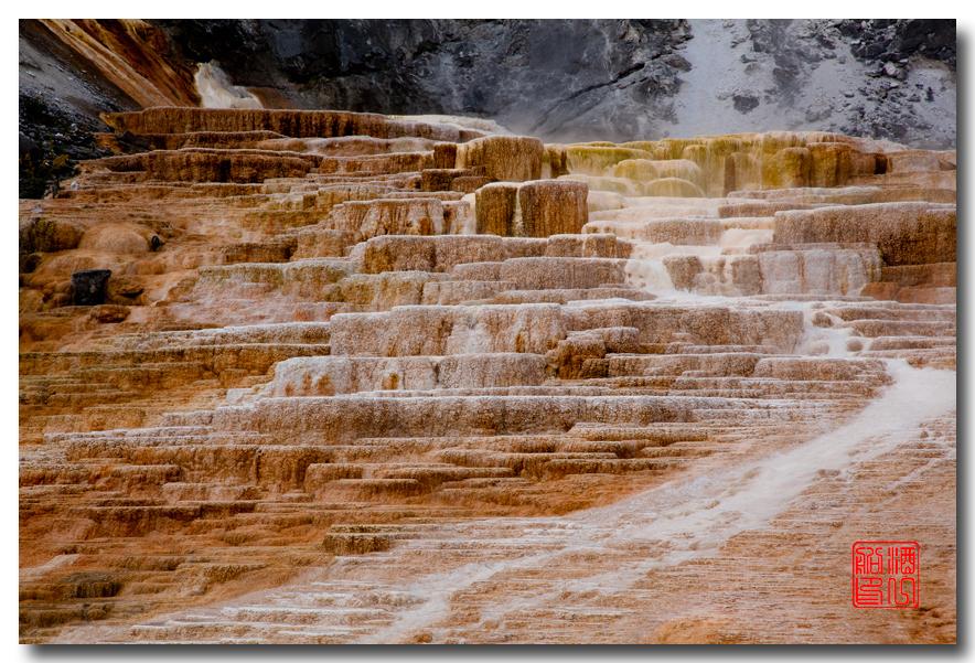 《酒一船摄影》:黄石公园的猛犸热泉区_图1-3