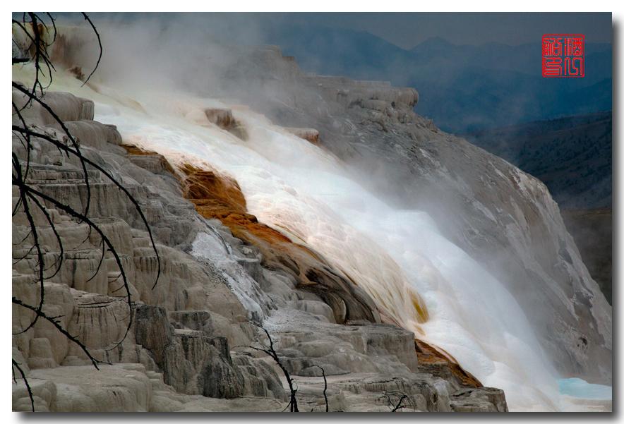 《酒一船摄影》:黄石公园的猛犸热泉区_图1-9