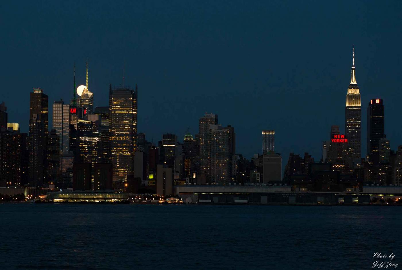 超级月亮在纽约 Super Moon @ NY_图1-2