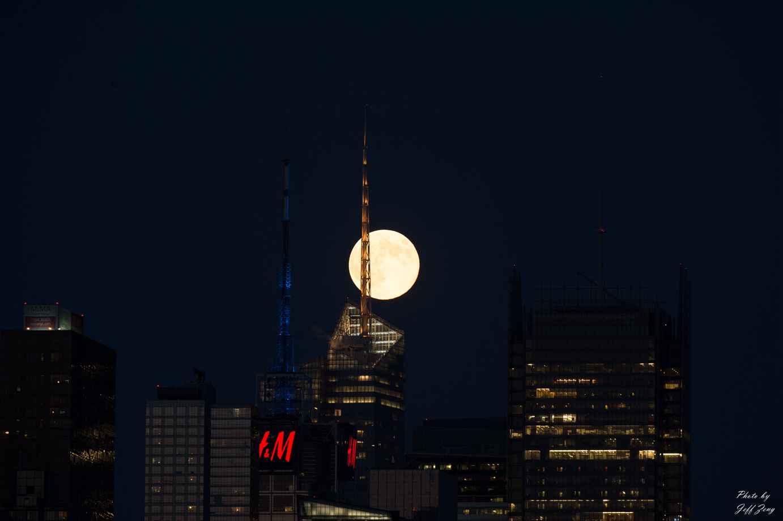 超级月亮在纽约 Super Moon @ NY_图1-3
