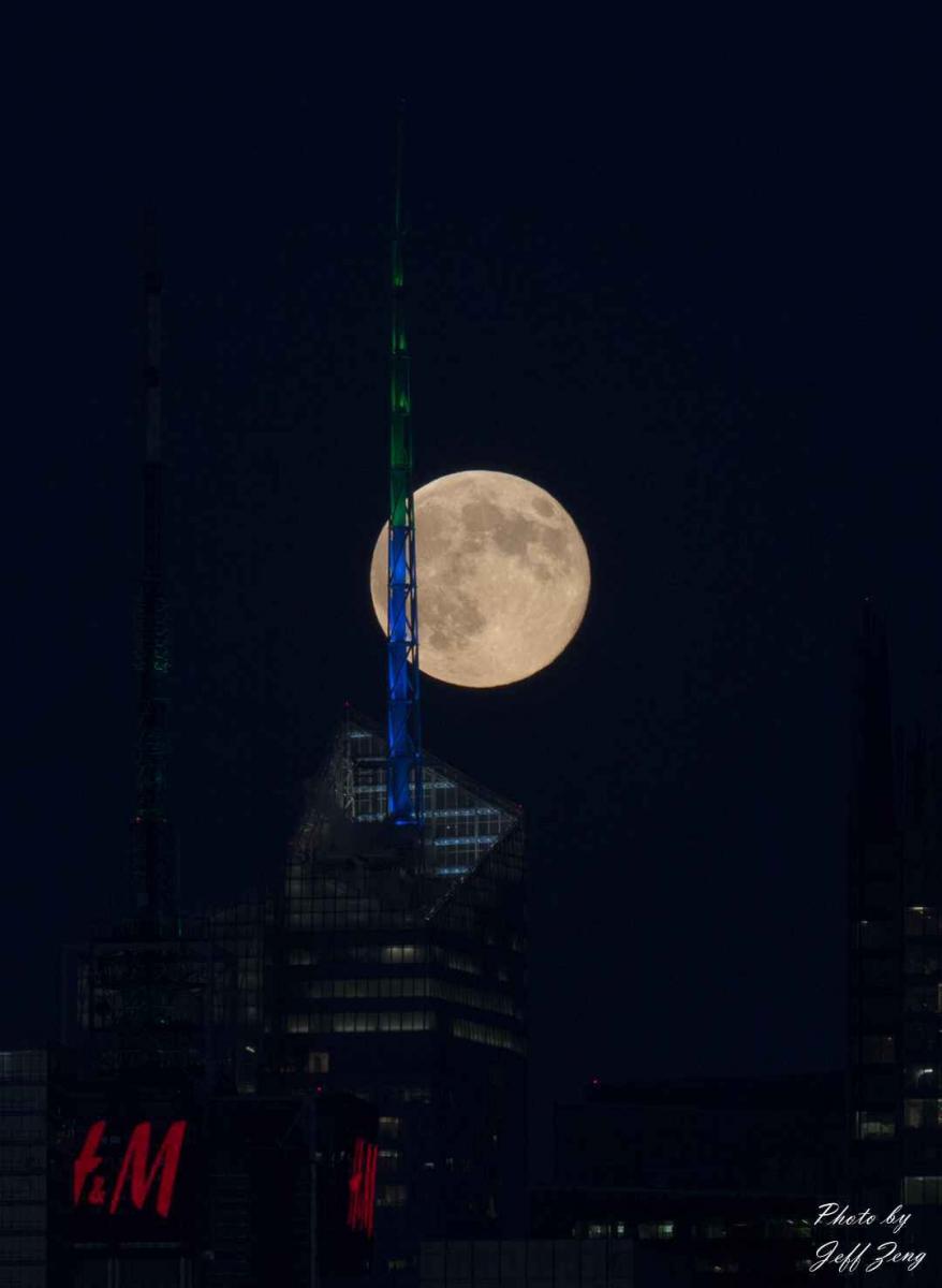 超级月亮在纽约 Super Moon @ NY_图1-4