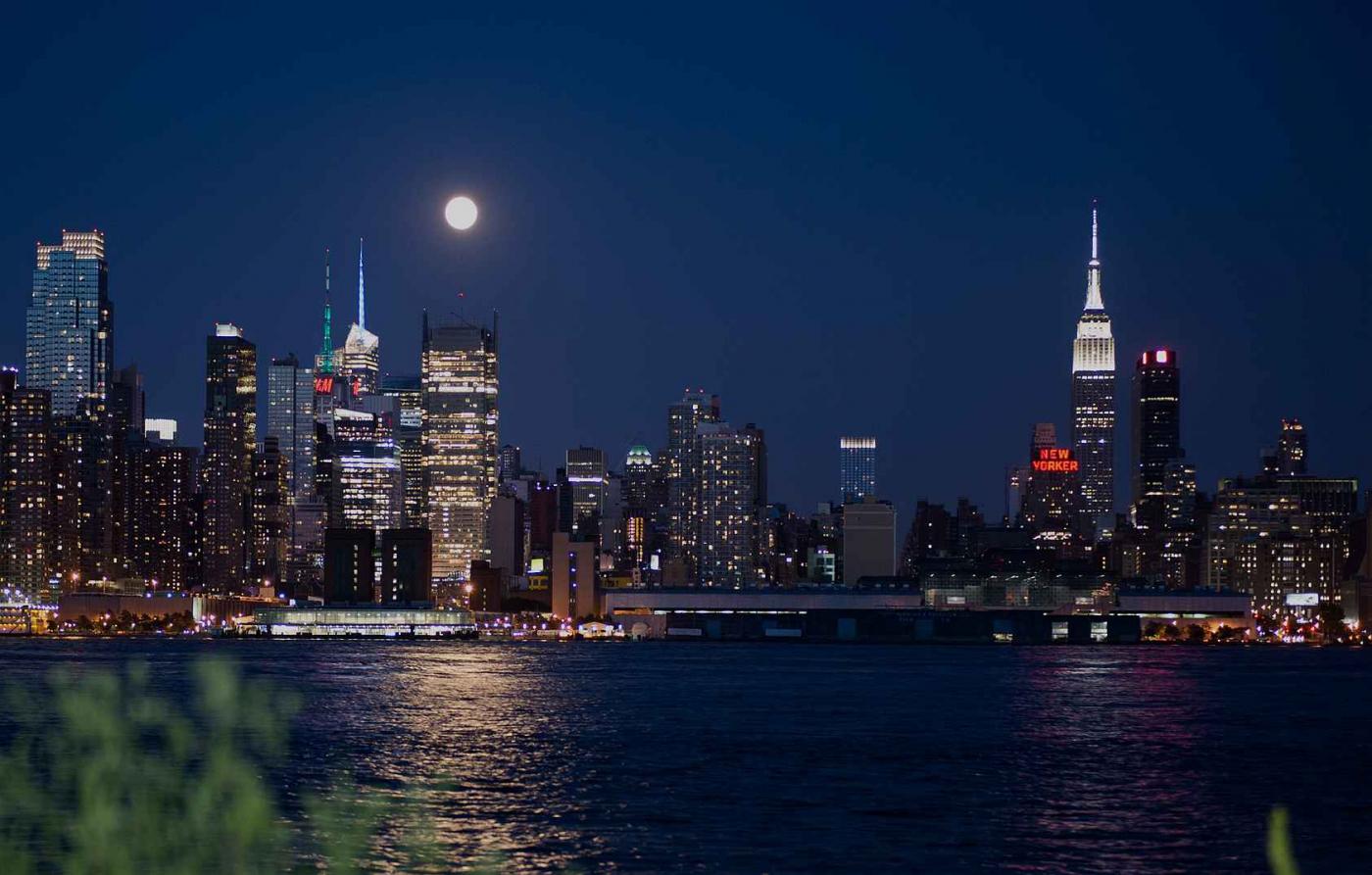 超级月亮在纽约 Super Moon @ NY_图1-1
