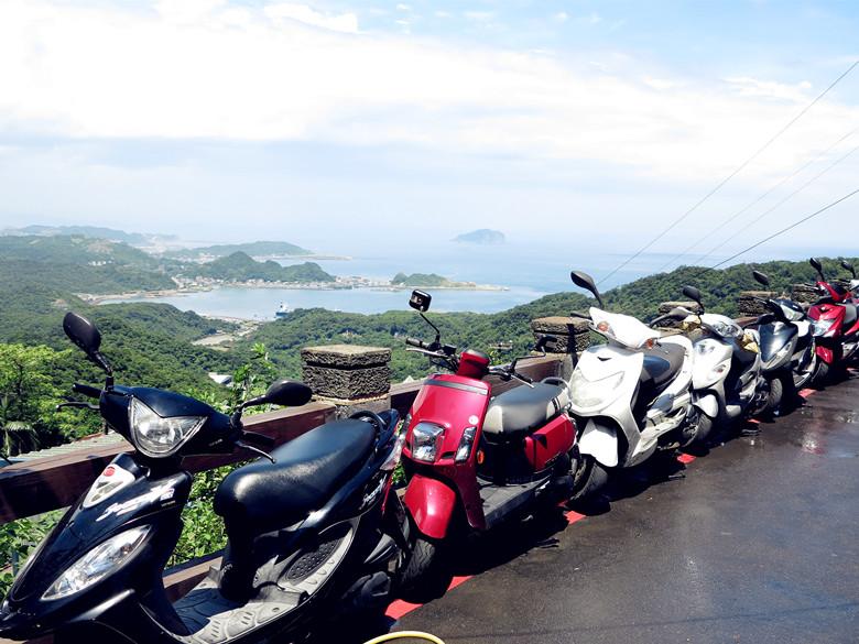 台北 自由行 路边 机车