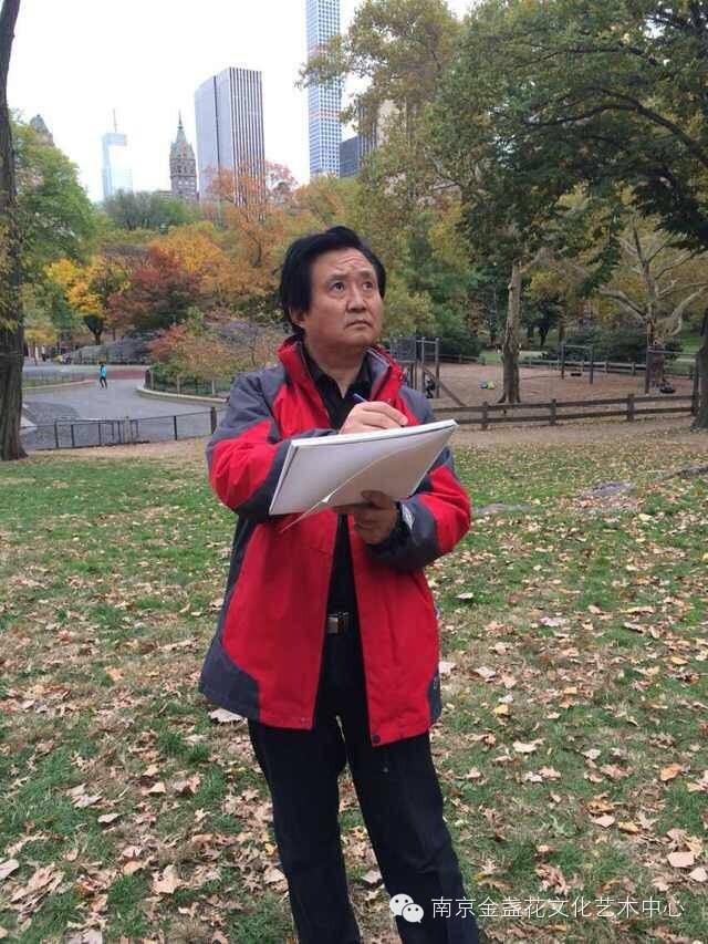 张广才教授参加江苏中国画学会创研基地美国纽约揭牌仪式暨画展 ... ... ... ..._图1-11