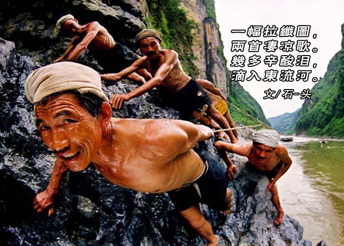 【弦逸筝情】纤夫图.和石-头,岩云野鹤,无痕雪_图1-6