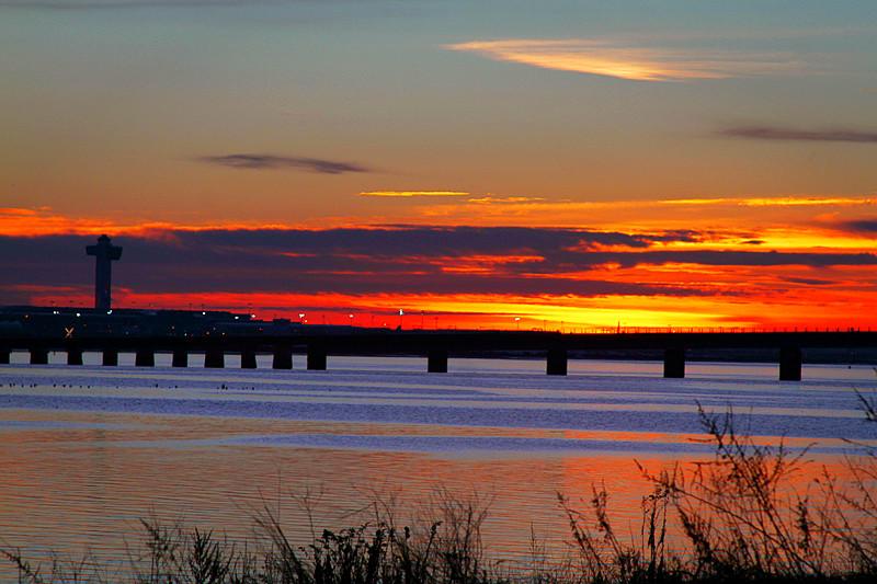 日出与清晨的景象