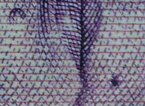 放大后的图,好象那墨在线的里面,要是盖住了红线就是后来人为的! ... ..._图1-4