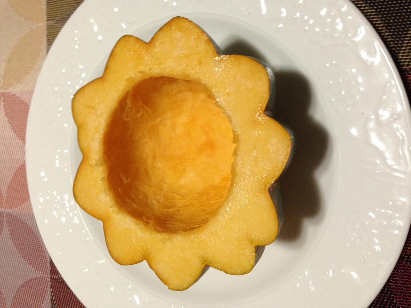 向日葵花儿开---紫薯南瓜盅_图1-2