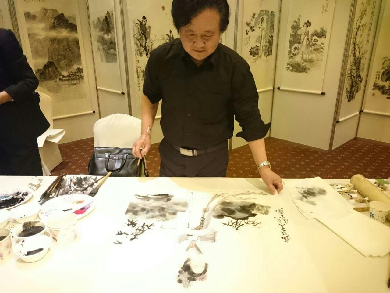 张广才教授参加中外友协举办的首届海峡两岸名人书画展_图1-7