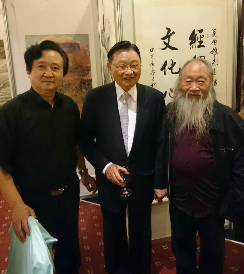 张广才教授参加中外友协举办的首届海峡两岸名人书画展_图1-1