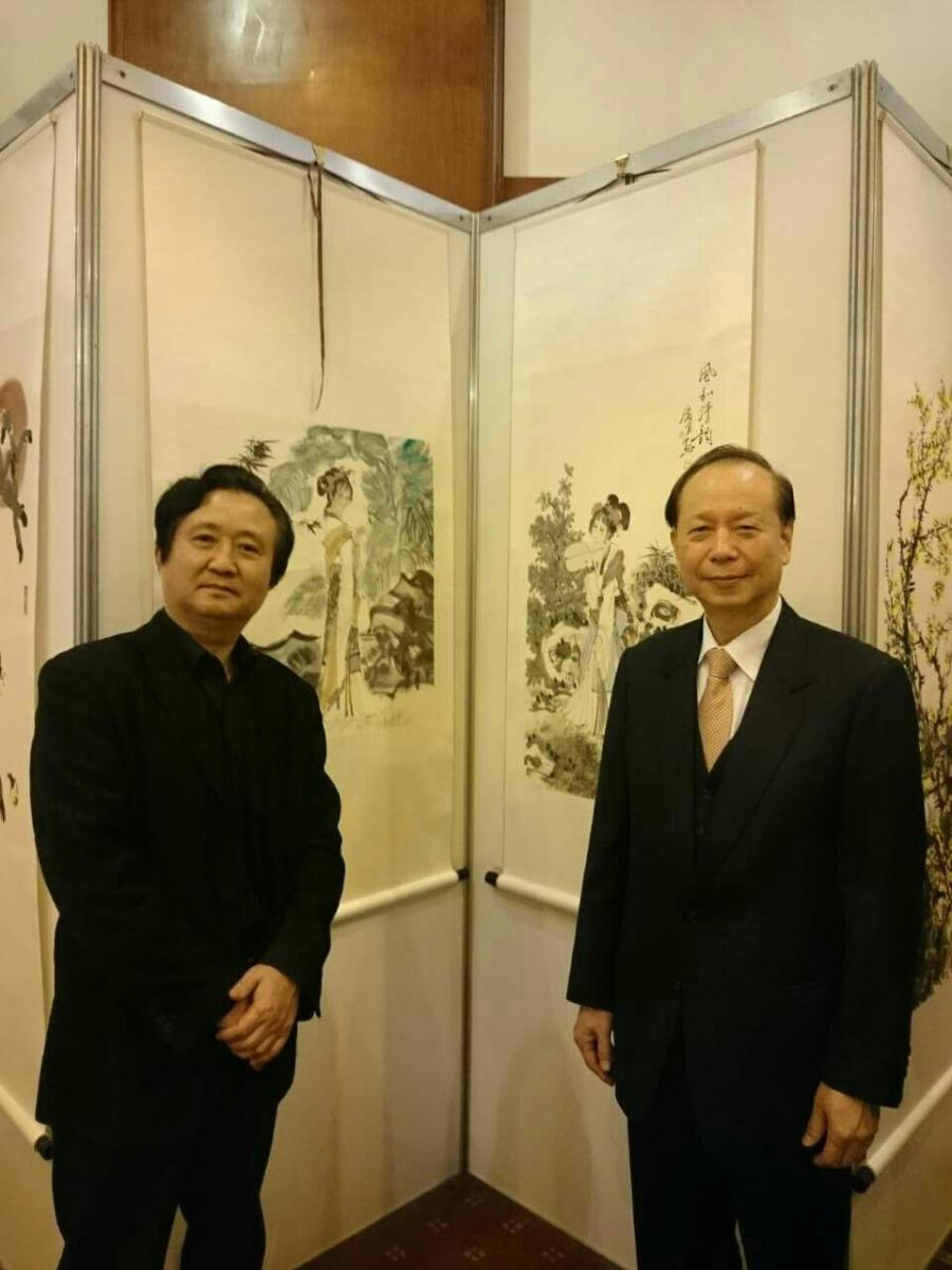 张广才教授参加中外友协举办的首届海峡两岸名人书画展_图1-8