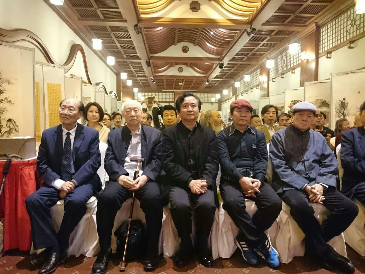 张广才教授参加中外友协举办的首届海峡两岸名人书画展_图1-9