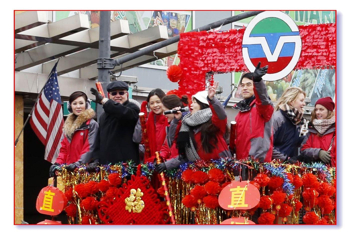 气势可佳的中文网法拉盛游行队伍_图1-2