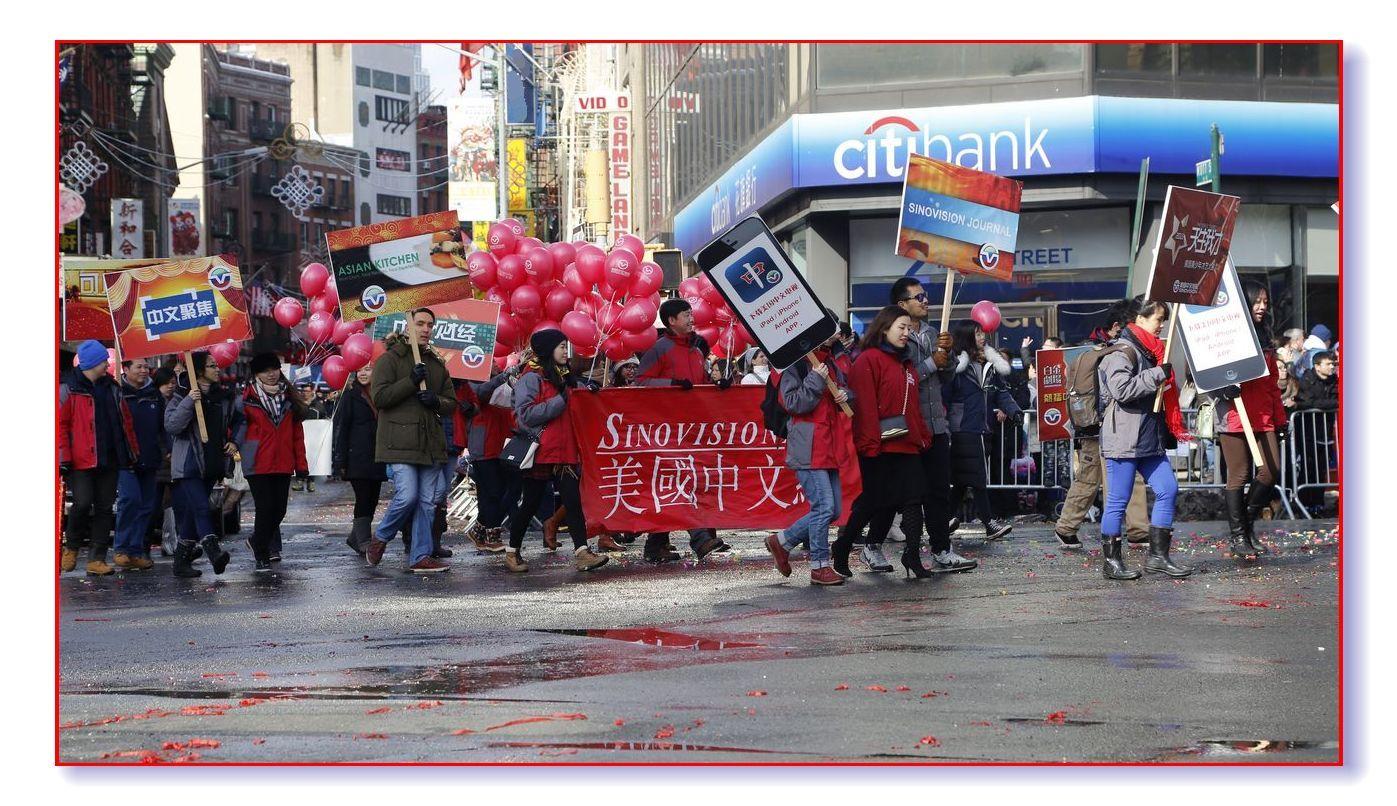 雪后天晴精神爽 华埠游行庆新春_图1-23