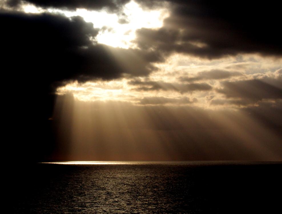 加勒比海暮色和落日_图1-1
