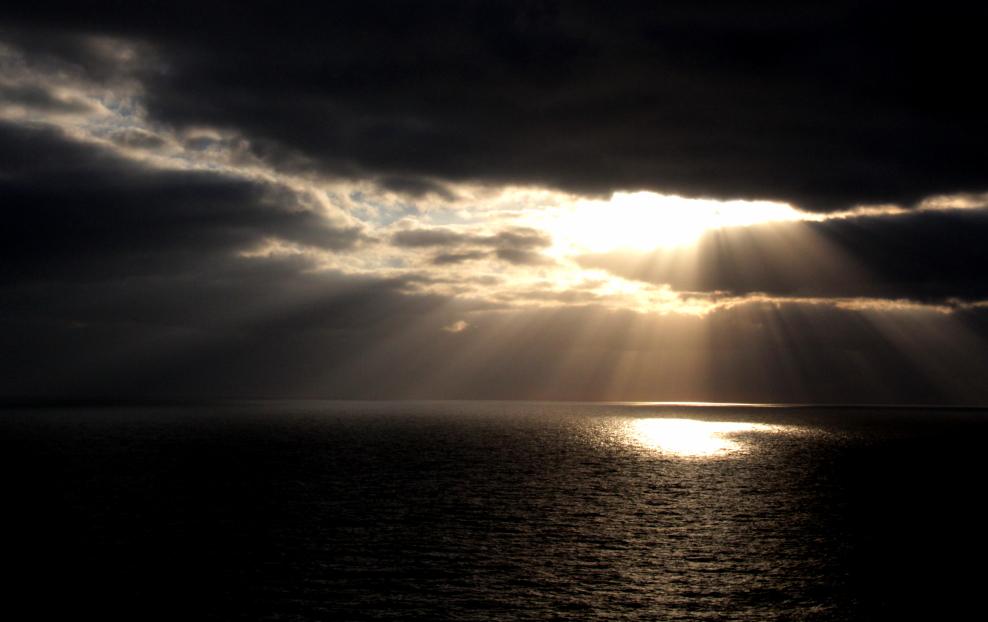 加勒比海暮色和落日_图1-2