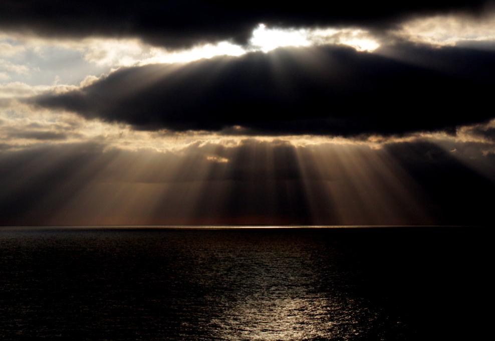 加勒比海暮色和落日_图1-4