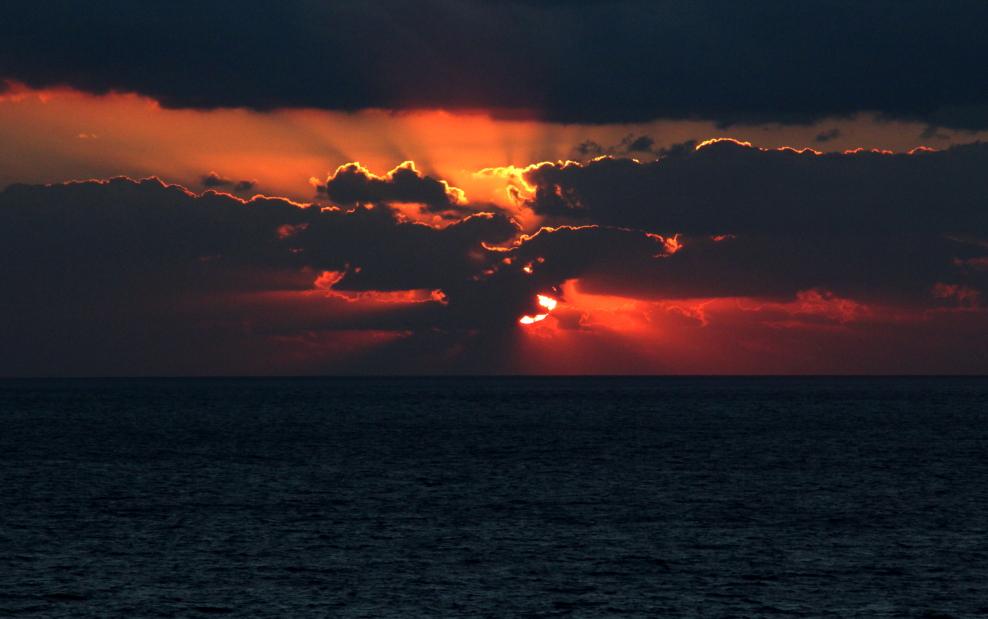 加勒比海暮色和落日_图1-7