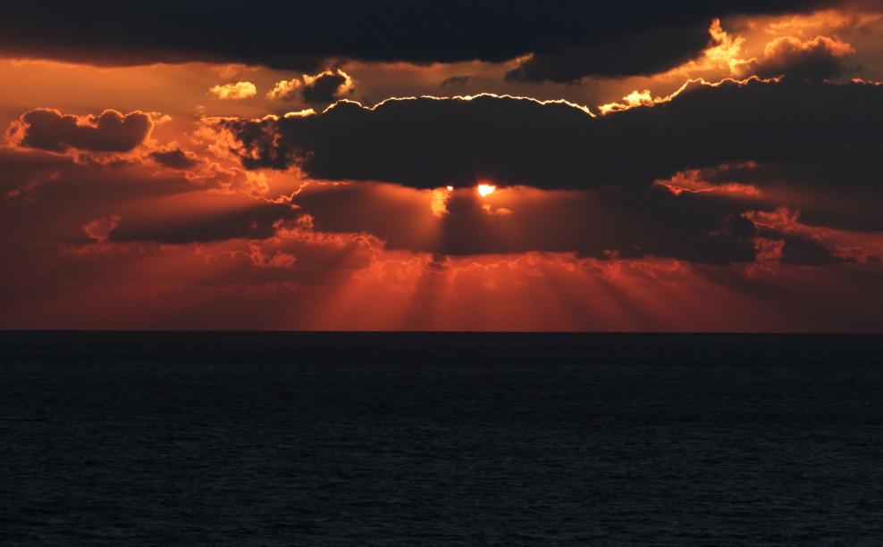 加勒比海暮色和落日_图1-8
