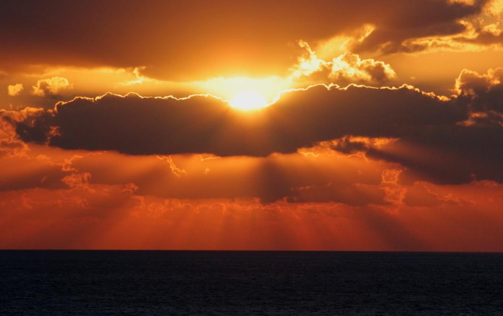 加勒比海暮色和落日_图1-10
