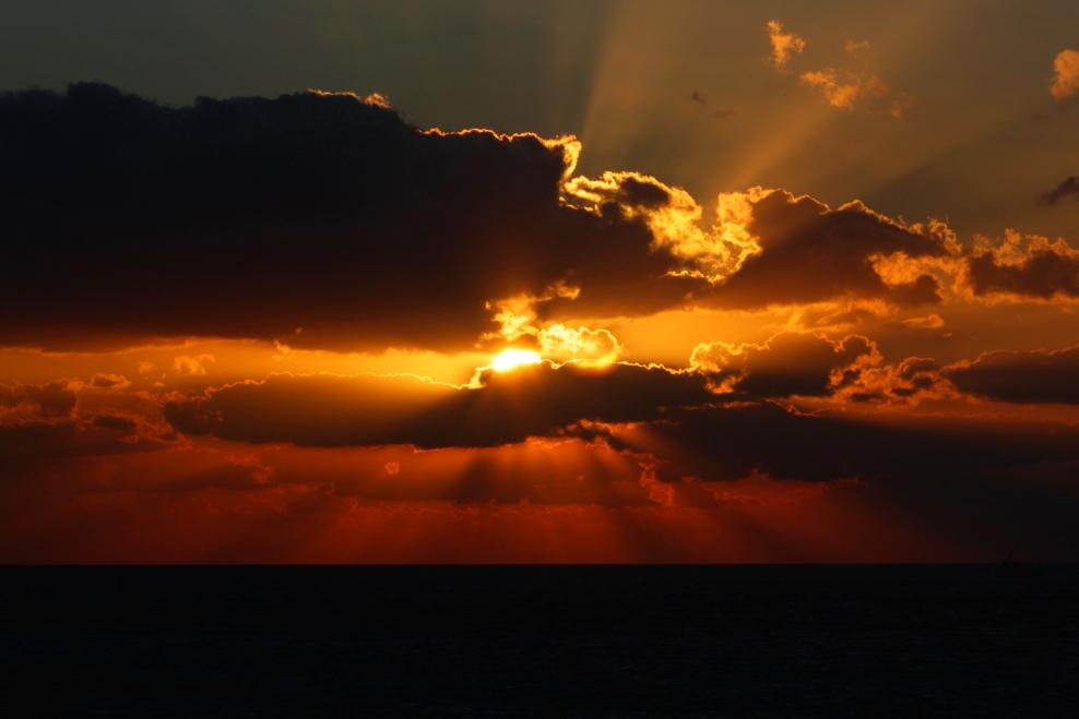 加勒比海暮色和落日_图1-11