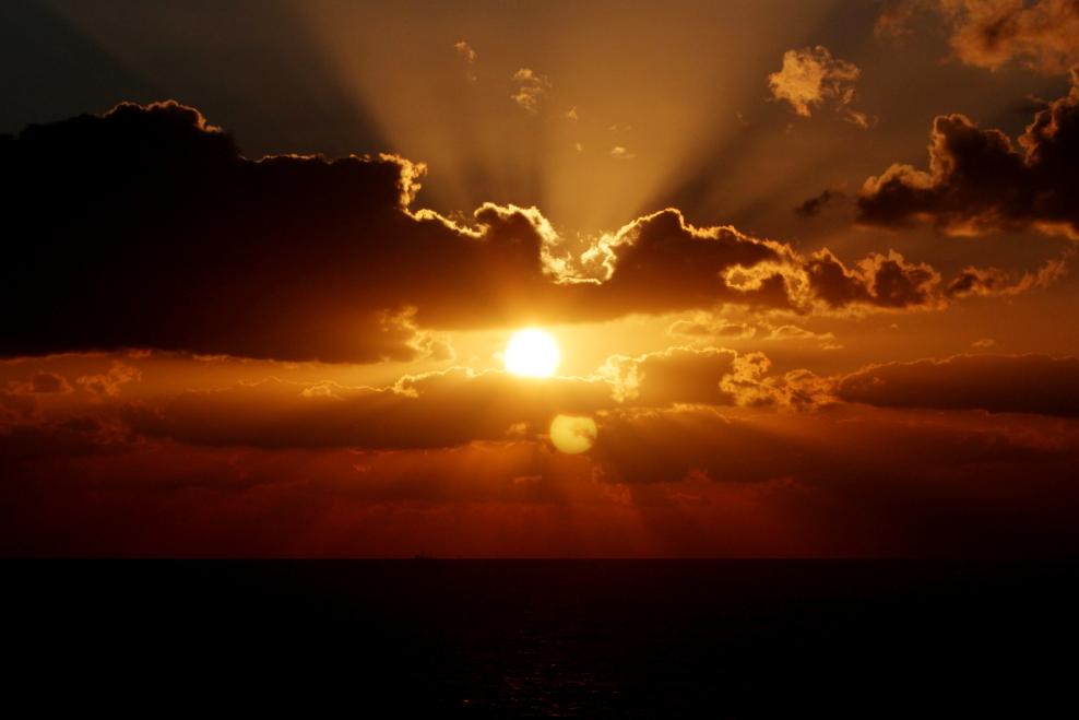 加勒比海暮色和落日_图1-12
