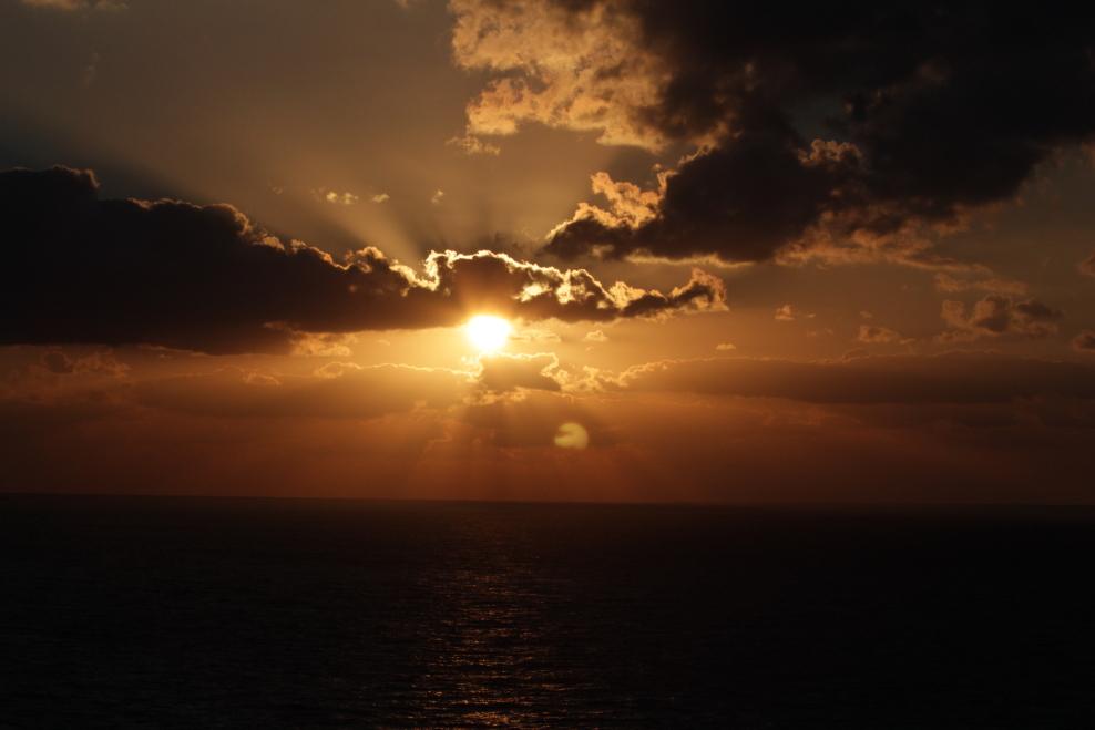 加勒比海暮色和落日_图1-13