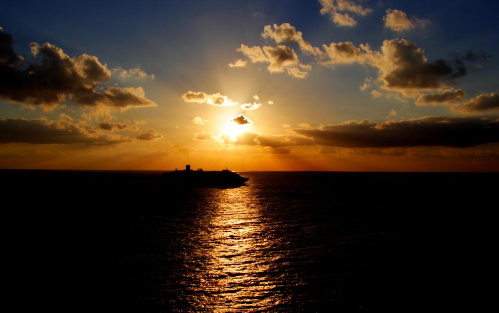 加勒比海暮色和落日_图1-18