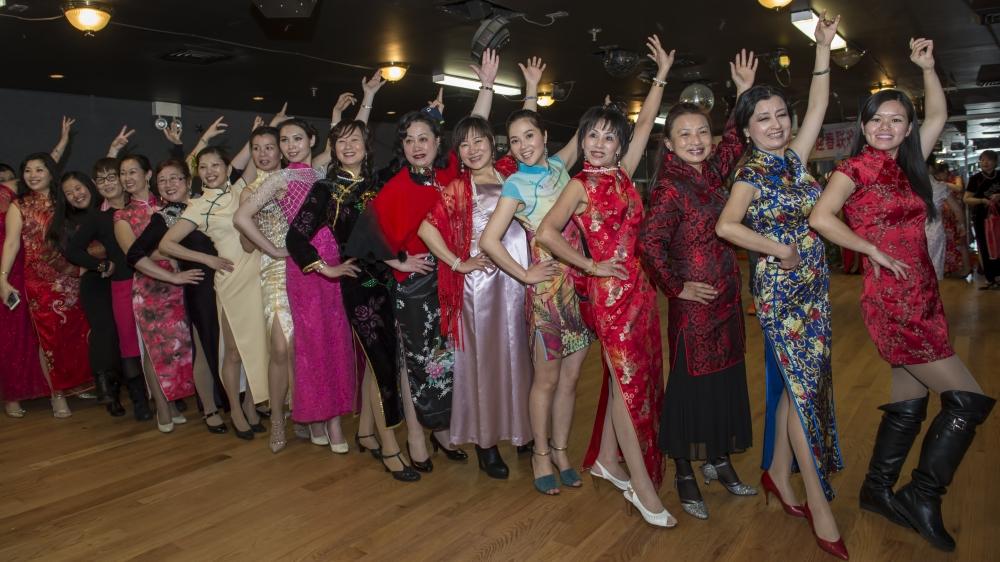 中国旗袍会纽约分会2015年迎春联欢会_图1-2