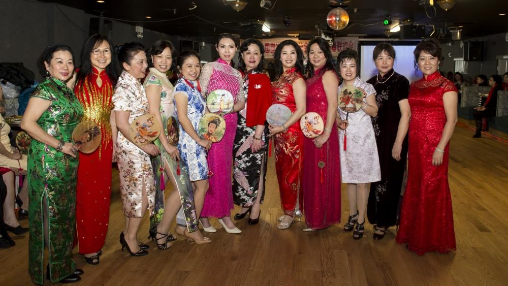 中国旗袍会纽约分会2015年迎春联欢会_图1-3
