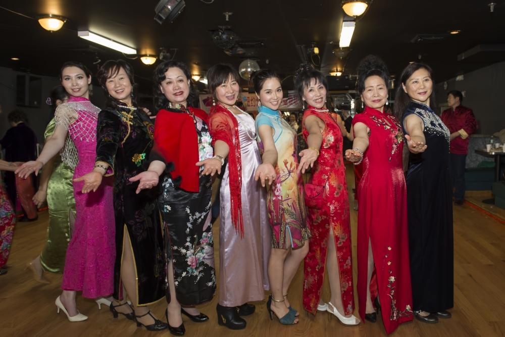 中国旗袍会纽约分会2015年迎春联欢会_图1-4