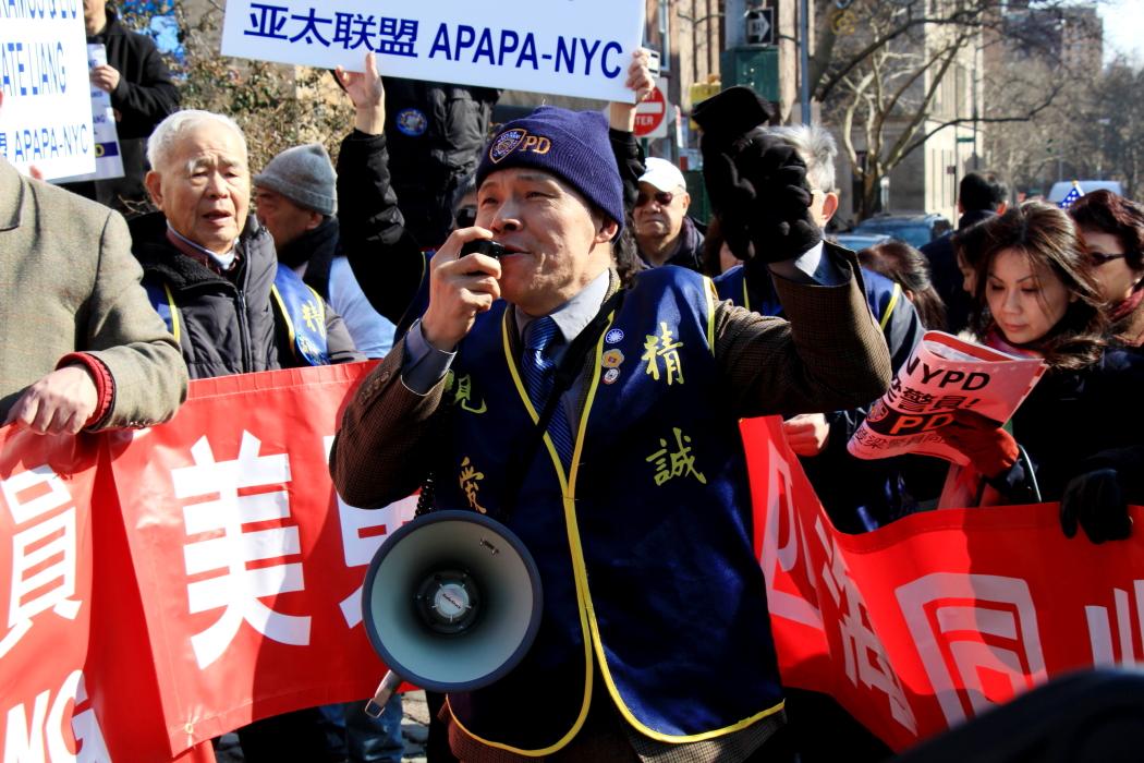 纽约举行支持声援梁警官的游行_图2-21